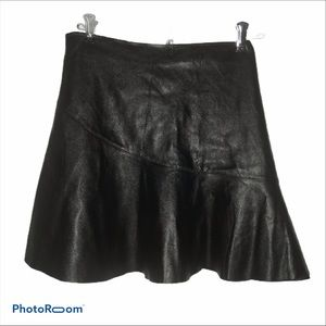 🇫🇷 Connection 18  Mini Pleather Zip Up Skirt L
